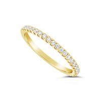 18ct Yellow Gold 1.75mm Wide Diamond Set Wedding Band, Set With 22 Round Brilliant Cut Diamonds, Total Diamond Weight 0.25ct