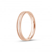 9ct Rose Gold Ladies 3mm Diamond Cut Wedding Band
