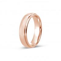 9ct Rose Gold Gents 5mm Diamond Cut Wedding Band