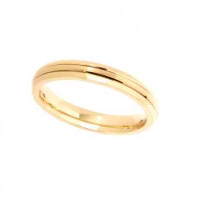 9ct Yellow Gold Ladies 3mm Diamond Cut Wedding Band