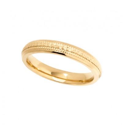 9ct Yellow Gold Ladies 3mm Diamond Cut Wedding Band