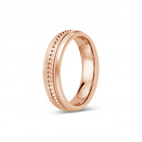 18ct Rose Gold Gents 5mm Diamond Cut Wedding Band