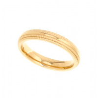 18ct Yellow Gold Ladies 3mm Diamond Cut Wedding Band