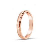 18ct Rose Gold Ladies 3mm Diamond Cut Wedding Band