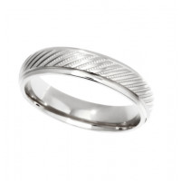 Platinum Gents 5mm Diamond Cut Wedding Band