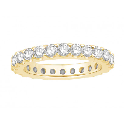 18ct Yellow Gold Ladies Undercut Full Set Eternity Ring set with 2.0 ct of Diamonds.