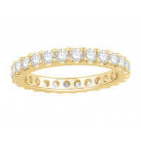 18ct White Gold Ladies Undercut Full Set Eternity Ring set with 1.50 ct of Diamonds.