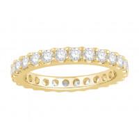 18ct White Gold Ladies Undercut Full Set Eternity Ring set with 1.50 ct of Diamonds.