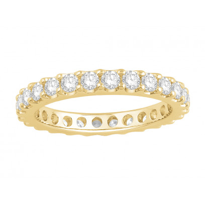 18ct Yellow Gold Ladies Undercut Full Set Eternity Ring set with 1.50 ct of Diamonds.