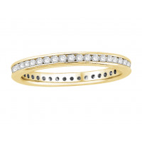 18 ct White Gold Ladies Narrow Channel Set Full Eternity Ring set with 0.50 ct of Diamonds.