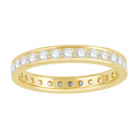 18 ct White Gold Ladies Narrow Channel Set Full Eternity Ring set with 1.0ct of Diamonds.