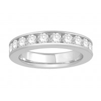 18 ct Yellow Gold Ladies Narrow Channel Set Full Eternity Ring set with 2.0ct of Diamonds.