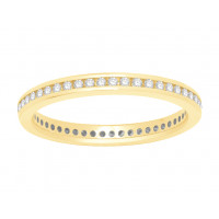 18 ct Yellow Gold Ladies Narrow Channel Set Full Eternity Ring set with 0.33 ct of Diamonds.