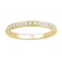 18ct White Gold Ladies Pavé Set Full Eternity Ring set with 0.50ct of Diamonds