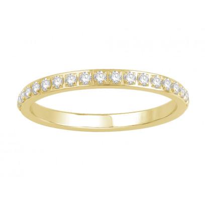 18ct Yellow Gold Ladies Pavé Set Full Eternity Ring set with 0.50ct of Diamonds