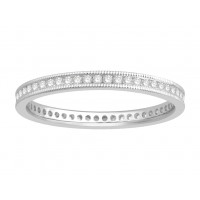 18 ct Yellow Gold Ladies Channel Set with the Milgrain Edge Eternity Ring set with 0.27 ct of Diamonds.