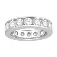 18 ct Yellow Gold Ladies Narrow Channel Set Full Eternity Ring set with 3.60ct of Diamonds.