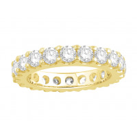 18ct White Gold Ladies Undercut Full Set Eternity Ring set with 2.50 ct of Diamonds.
