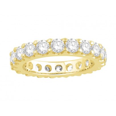 18ct Yellow Gold Ladies Undercut Full Set Eternity Ring set with 2.50 ct of Diamonds.