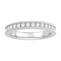 18 ct Yellow Gold Ladies Channel Set with the Milgrain Edge Eternity Ring set with 0.75 ct of Diamonds.