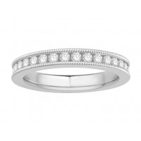18 ct Yellow Gold Ladies Channel Set with the Milgrain Edge Eternity Ring set with 1.0 ct of Diamonds.