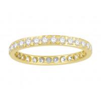 18ct White Gold Ladies  Pavé Set Full Eternity Ring set with 0.75ct of Diamonds