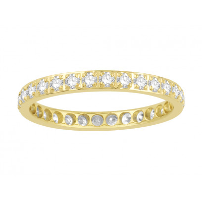 18ct Yellow Gold Ladies Pavé Set Full Eternity Ring set with 0.75ct of Diamonds