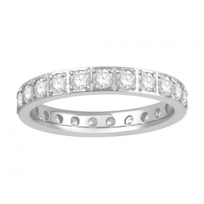 18ct White Gold Ladies Pavé Set Full Eternity Ring set with 1.50ct of Diamonds
