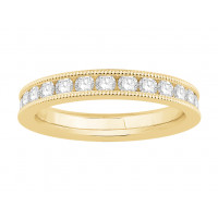 18 ct White Gold Ladies Channel Set with the Milgrain Edge Eternity Ring set with 1.25 ct of Diamonds.