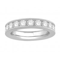 18 ct Yellow Gold Ladies Channel Set with the Milgrain Edge Eternity Ring set with 2.50 ct of Diamonds.