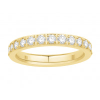 18ct White Gold Ladies Pavé Set Full Eternity Ring set with 1.25ct of Diamonds