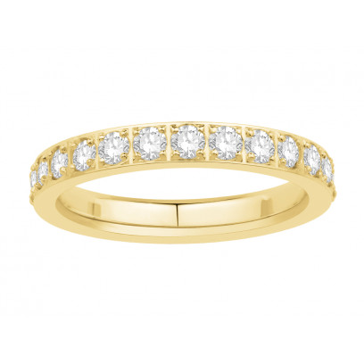 18ct Yellow Gold Ladies Pavé Set Full Eternity Ring set with 1.25ct of Diamonds