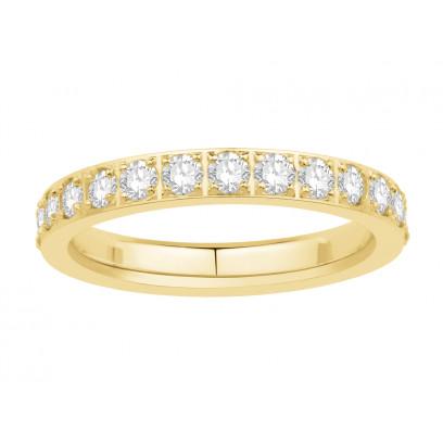 18ct Yellow Gold Ladies Pavé Set Full Eternity Ring set with 1.25ct of Diamonds