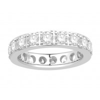 18ct Yellow Gold Ladies Pavé Set Full Eternity Ring set with 2.50ct of Diamonds