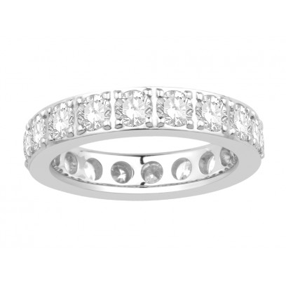 18ct White Gold Ladies Pavé Set Full Eternity Ring set with 2.50ct of Diamonds