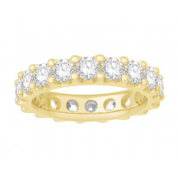 18ct White Gold Ladies Undercut Full Set Eternity Ring set with 3.50 ct of Diamonds.