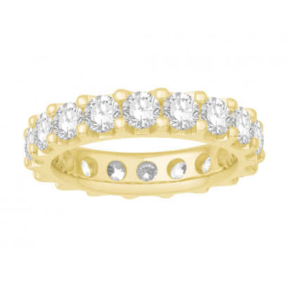 18ct Yellow Gold Ladies Undercut Full Set Eternity Ring set with 3.50 ct of Diamonds.