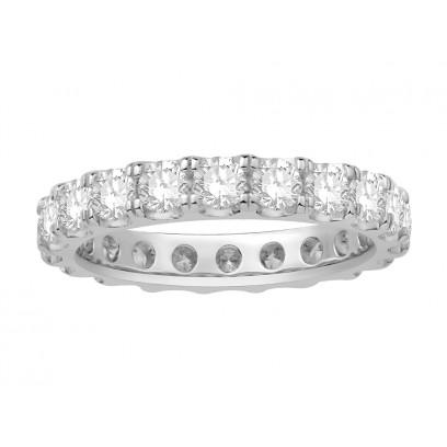 18ct White Gold Ladies Undercut Full Set Eternity Ring set with 2.20 ct of Diamonds.
