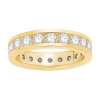 18 ct White Gold Ladies Narrow Channel Set Full Eternity Ring set with 3.38ct of Diamonds.