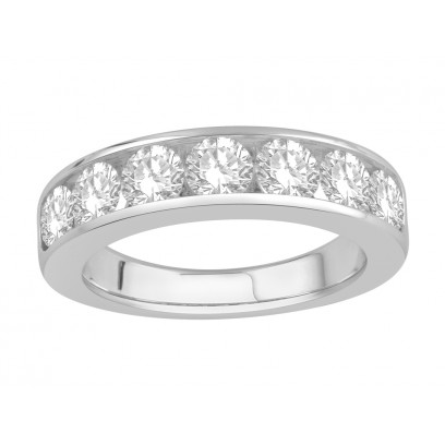 18 ct White Gold Ladies Channel Set Eternity Ring set with 1.60 ct of Diamonds.