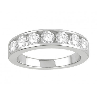 18 ct White Gold Ladies Channel Set Eternity Ring set with 1.30 ct of Diamonds.