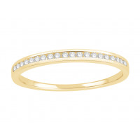 18 ct White Gold Ladies Channel Set Eternity Ring set with 0.10 ct of Diamonds.