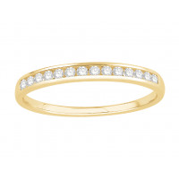 Platinum Ladies Channel Set Eternity Ring set with 0.15 ct of Diamonds.