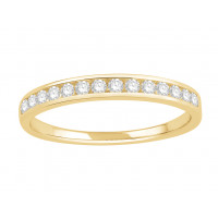 18 ct White Gold Ladies Channel Set Eternity Ring set with 0.20 ct of Diamonds.
