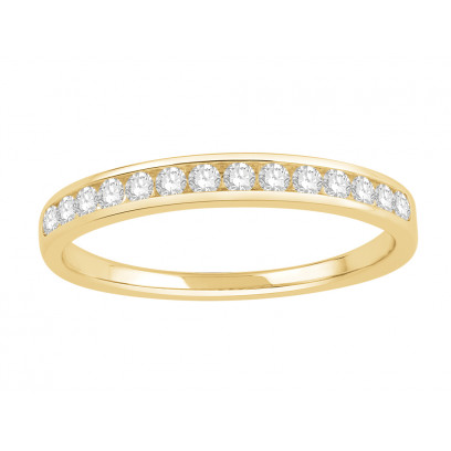 18 ct Yellow Gold Ladies Channel Set Eternity Ring set with 0.20 ct of Diamonds.