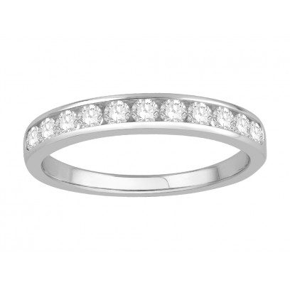 18 ct White Gold Ladies Channel Set Eternity Ring set with 0.40 ct of Diamonds.