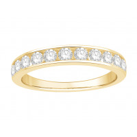 18 ct White Gold Ladies Channel Set Eternity Ring set with 0.50 ct of Diamonds.
