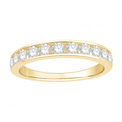 18 ct Yellow Gold Ladies Channel Set Eternity Ring set with 0.50 ct of Diamonds.