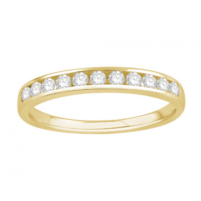 18 ct Yellow Gold Ladies Channel Set Eternity Ring set with 0.25 ct of Diamonds.