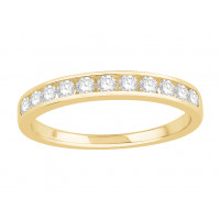 18 ct White Gold Ladies Channel Set Eternity Ring set with 0.30 ct of Diamonds.